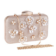 L.west Women Elegant High-grade Pearl Flower Evening Bag