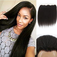 7A New Arrival Kinky Straight Lace Frontal Closures 13x4 inch Ear to Ear Lace Frontal Closures for Women