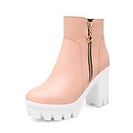 Γυναικεία παπούτσια-Μπότες-Ύπαιθρος / Γραφείο & Δουλειά / Καθημερινά-Πλατφόρμα-Ενιαία Σόλα / Πλατφόρμες / Μοντέρνες Μπότες-Δερματίνη-