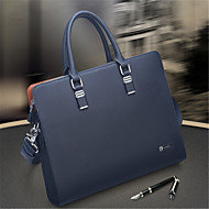 Men Tote Cowhide Casual Office & Career Blue