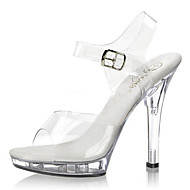 Women's Shoes PVC Summer/Fall Heels/Sandals Heels Wedding/Party & Evening/Casual Stiletto Heel Buckle Clear