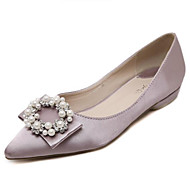 Women's Flats Summer Pointed Toe Leatherette Outdoor Flat Heel Beading Black / Purple Others