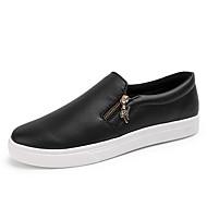 גברים-נעליים ללא שרוכים-קנבס-נוחות סוליות מוארות-לבן שחור-שטח משרד ועבודה יומיומי מסיבה וערב-עקב שטוח