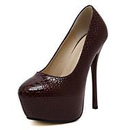 נעלי נשים-נעליים ללא שרוכים-דמוי עור-עקבים / פלטפורמה / בלרינה בייסיק / מגפי אופנה / חדשני / גלדיאטור-שחור / בורגונדי-חתונה / שמלה /