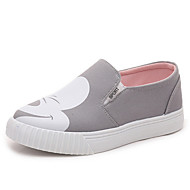 Women's Loafers & Slip-Ons Spring / Fall Creepers Canvas Outdoor / Athletic Platform Others Black / Pink / Gray Sneaker
