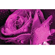 3D Effect Non-woven Large Mural Wallpaper Purple Roses Art Wall Decor Wall Paper
