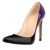 Damen-High Heels-Outddor / Lässig-Lackleder-Stöckelabsatz-Absätze-Blau / Grün / Lila / Rot / Burgund