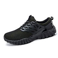 Men's Sneakers Spring / Summer / Fall / Winter Round Toe Rubber Athletic / Casual Flat Heel Others / Lace-up Black
