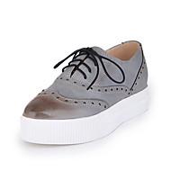 Women's Flats Spring / Fall / Winter Platform / Comfort / Round Toe / Flats Leatherette Outdoor / Dress /