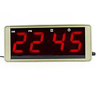 תצוגה גדולה אולטרה הובילה תקע במקרה מתכת שעון קיר דיגיטלי עבור שעון מעורר קפוא הוביל שעון של שולחן אלקטרוני