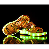 LED Light Up Shoes, Boy's Sandals Summer Sandals PU Casual Flat Heel Black / White / Gold / Black and Red Others