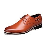 Kényelmes-Alacsony-Női cipő-Félcipők-Irodai / Alkalmi / Party és Estélyi-Bőr-Fekete / Narancssárga