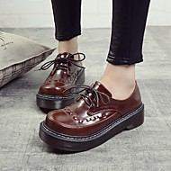 Women's Oxfords Spring / Fall Creepers PU Casual Platform Lace-up Black / Brown Others