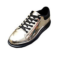 Men's Clogs & Mules Winter Patent Leather Party & Evening Flat Heel Lace-up Blue Gold Bronze