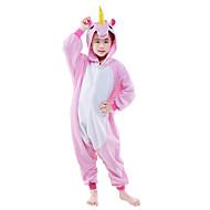 Kigurumi Pyjamas Pegasus Trikot/Heldragtskostumer Festival/Højtider Nattøj Med Dyr Halloween Lyserød Blå Ensfarvet Polarfleece Kigurumi