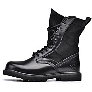 Unisex Boots Fashion Boots Leather Office & Career / Party & Evening / Casual Flat Heel  Black Others