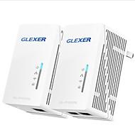 glexer AV500 passthrough powerline adapter 2 ethernet porte 2-pack kit netværk p / n gl-ph500 (re) kit