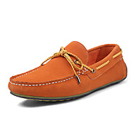Men's Boat Shoes Spring / Summer / Fall / Winter Moccasin Suede Casual Flat Heel Lace-up Black / Red / White Others