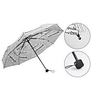 Fekete / Fehér Összecsukható esernyő Napernyő / Sunny és Rainy / Esős Fém / textil / SzilikonBabakocsi / gyerekek / Utazás / Nő / Férfi /