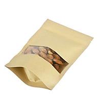 spot kraftpapir poser af riskorn hirse nødder tørret frugt poser en pakke med ti vinduer