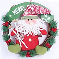 1 1 ענף רתן / Others עץ חג המולד פרחים לקיר פרחים מלאכותיים 11.8*11.8