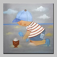 Hand Painted Modern Cartoon Oil Paintings On Canvas Wall Art Pictures With Stretched Frame Ready To Hang