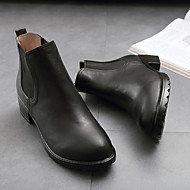 Women's Boots Spring / Fall Comfort Leather Casual Chunky Heel Others Black Others