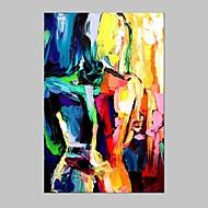 Hånd-malede Abstrakt PortrætEuropæisk Stil / Moderne Et Panel Canvas Hang-Painted Oliemaleri For Hjem Dekoration