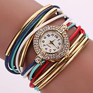 Fashion ladies/Women's watch leather Multilayer Weave Bracelet Watch crystal Quartz watch kids watches Imitation Diamond Fancy Watch