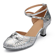 Sapatos de Dança(Vermelho / Prateado) -Feminino-Personalizável-Latina / Moderna