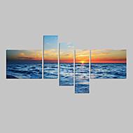 Seascape fotográfico praia arte da parede da lona impressão em canvas cinco painéis lona de alta qualidade pronto para pendurar