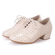 מותאם אישית-עקב עבה-עור-לטיני / ג'אז / מודרני / נעליי ריקוד סווינג-נשים