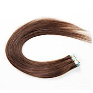 szalag vetülékeket emberi haj kiterjesztések # 60 platinaszőke 20db / csomag zökkenőmentes pu bőr vetülék brazil Remy új haj termékek