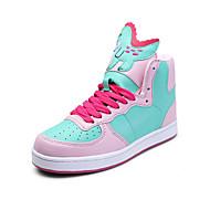 Women's Sneakers Fall / Winter Comfort PU Casual Flat Heel Lace-up Pink / Purple / Light Green / Royal Blue Walking