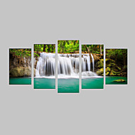 Fotografische Print Leinwand-Set Leinwanddruck Landschaft Photografisch Realismus Reise Freizeit Botanisch Fünf Panele Horizontal Druck
