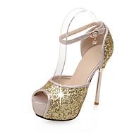 Sandály-Syntetika-Platformy Jiné-Dámské-Růžová Stříbrná Zlatá-Kancelář Šaty Běžné Party-Vysoký