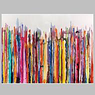 Handgeschilderde Abstract / Stilleven Olie schilderijen,Modern / Pastoraal Eén paneel Canvas Hang-geschilderd olieverfschilderij For