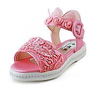 לבנות-נעלי ספורט-סוויד-פתוח-כחול / ורוד / אדום / לבן-קז'ואל-עקב שטוח