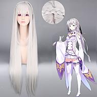peruki cosplay lolita 100cm taśma szara anime styl -R zera kara hajimeru isekai seikatsu