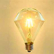 4 E26/E27 Lâmpadas de Filamento de LED G95 4 SMD 5730 800 lm Amarelo Decorativa AC 220-240 V 1 pç