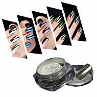 2g/Box 10 Color Mirror Mirror Glitter Powder Manicure Aurora