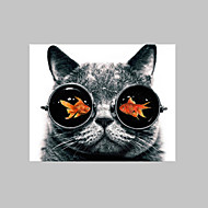 E-HOME® Stretched Canvas Art Goldfish in The Eyes of The Cat Decoration Painting  One Pcs