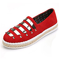 Women's Flats Spring / Summer / Fall Comfort Leatherette Outdoor / Casual Flat Heel Beading