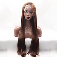 lunga parrucca anteriore del merletto sintetica diritta di colore marrone senza colla moda per le donne afro parrucche