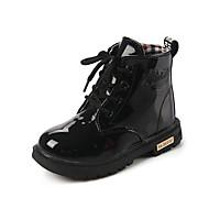 Støvler-PU-Komfort-Piger-Sort Gul Rosa Vandmelon-Fritid-Flad hæl