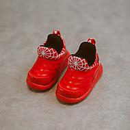 לבנות-שטוחות-PU-נעלי בובה (מרי ג'יין)-שחור / ירוק / אדום-שטח-עקב שטוח