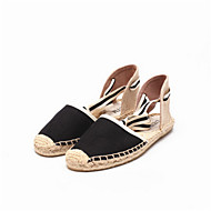 Women's Sandals Summer Sandals Canvas Casual Flat Heel Others Black / Blue / Beige Others