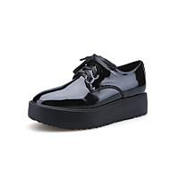 Women's Flats Fall Comfort / Round Toe Casual Flat Heel Black / Burgundy Walking