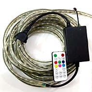 15m / 1stk eu plugconnect ir 19key controller 220-240 5050-900smd LED RGB jul vandtæt lampe bælte band haven