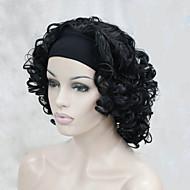 nieuwe mode 3/4 pruik met hoofdband vrouwen kort krullend synthetische half pruik